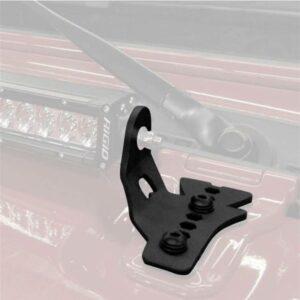 Монтажные кронштейны для одиночной 30-дюймовой светодиодной ленты на маске Go Rhino